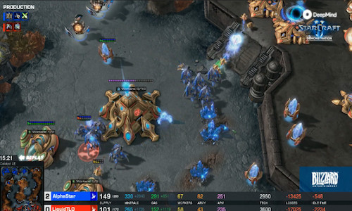A screen grab from video game StarCraft II